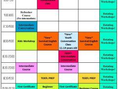 2016 Class Schedule